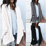 Women Pocket Long-Sleeved Jacket