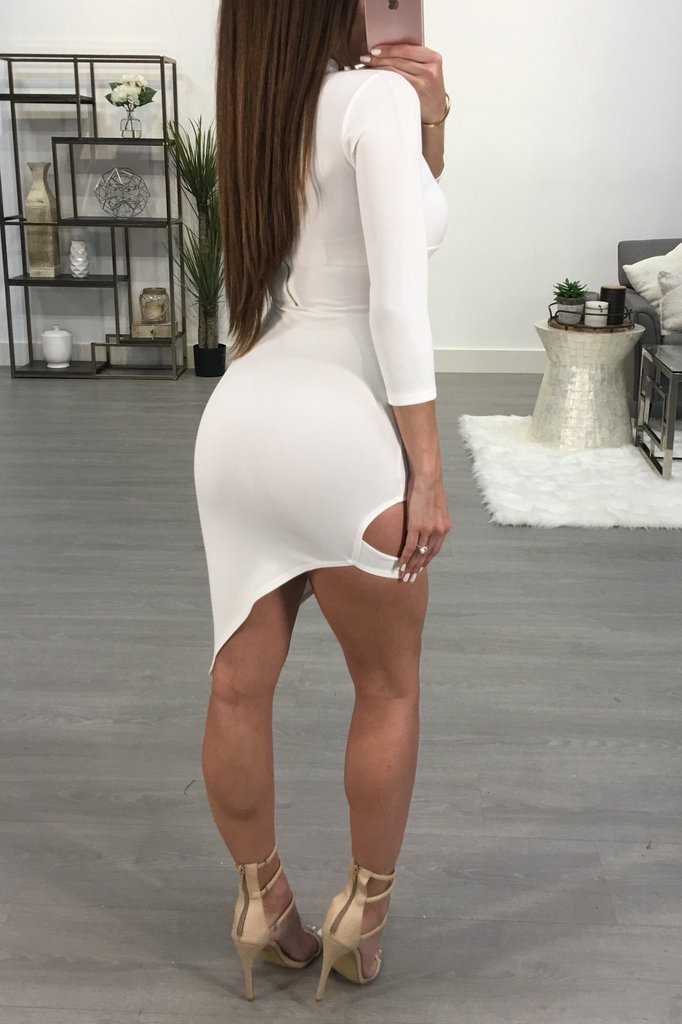 Deep V-Neck Fashion Sexy Package Hip Dress