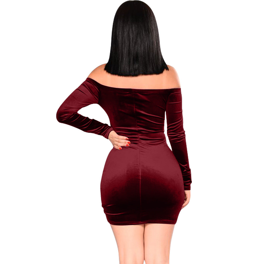 Fashion Long Sleeve Sexy High Waist Dress