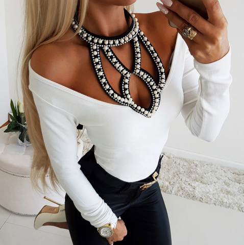 Black Off Shoulder Ruffle Trim Zip Front Long Sleeve Crop Top
