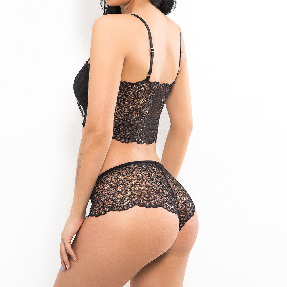 Sexy Lace Stitching Underwear Set