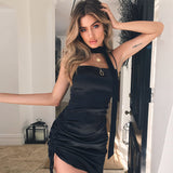2018 Women's Sling Black Dress
