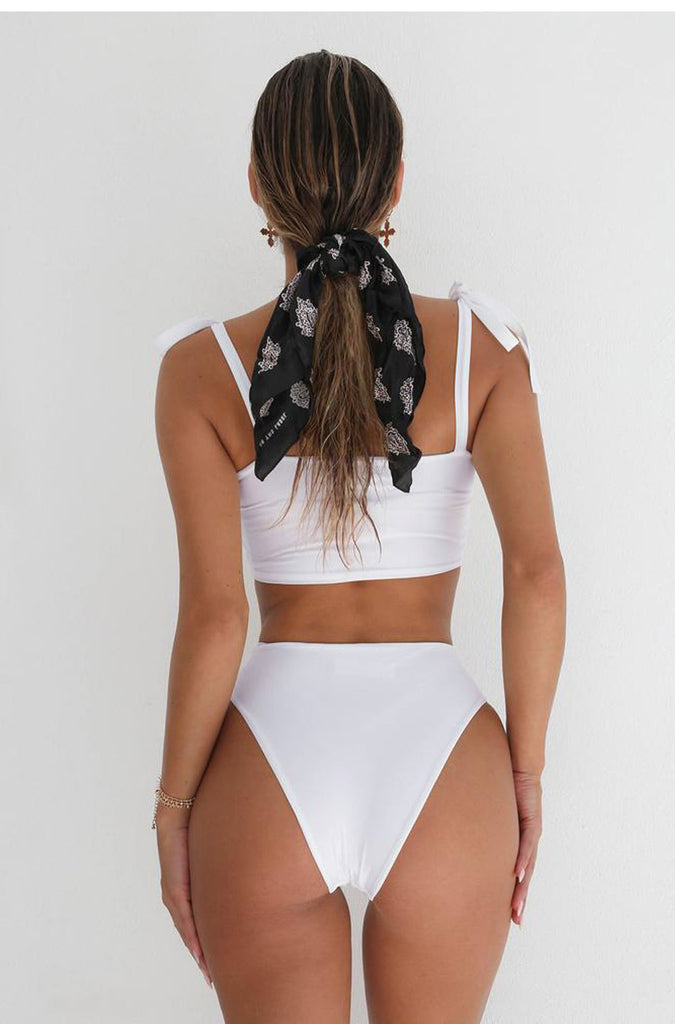 2018 Sexy White Sling Two Piece Swimsuit