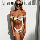 Women Sexy Off Shoulder Bikini Set