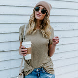 Casual Fashion Solid Color Short-Sleeved T-Shirt