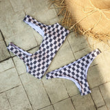 High waist two piece print swimwear bathsuit