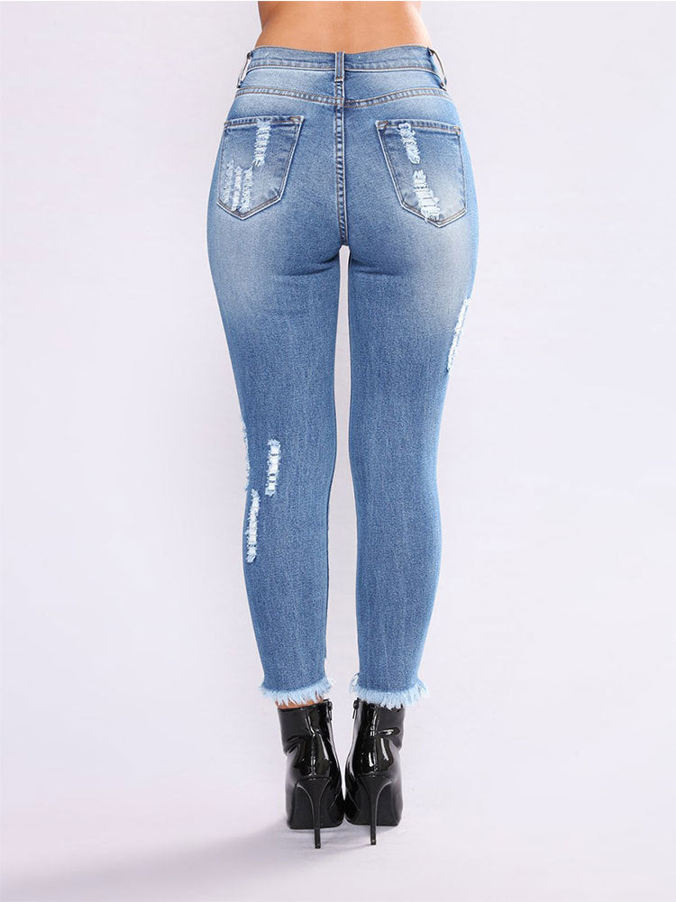 Women'S Fashion Blue Jeans