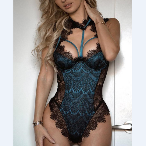 Women'S Sexy Fashion Lace Embroidered Splicing Jumpsuit