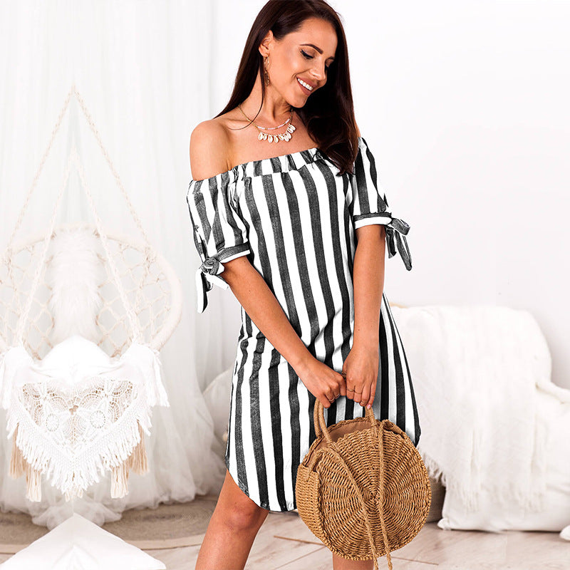 Women's Stripes Princess Dress