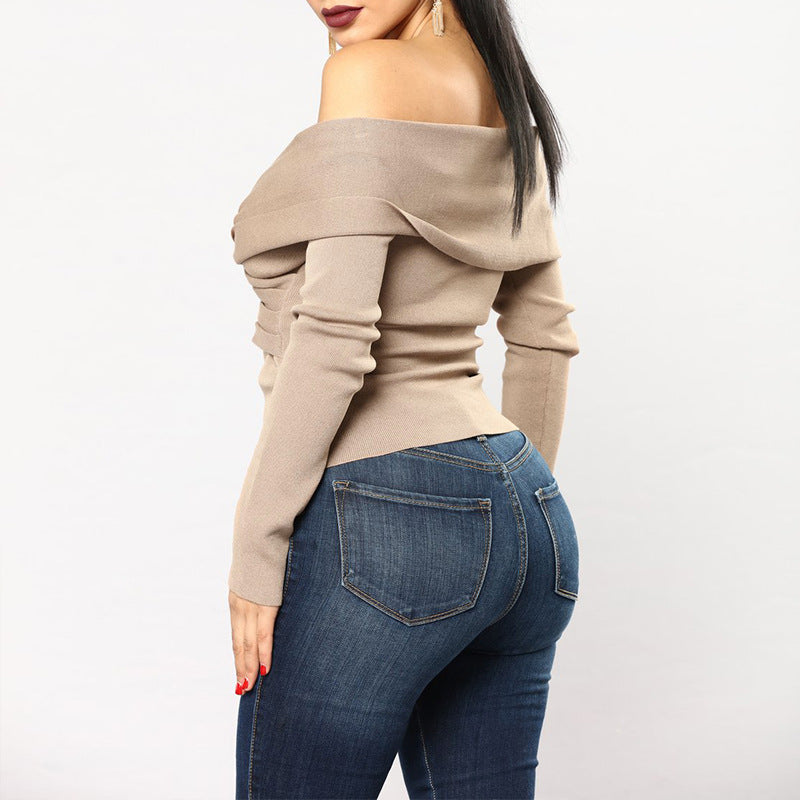 Sexy V-neck Long Sleeve Tops