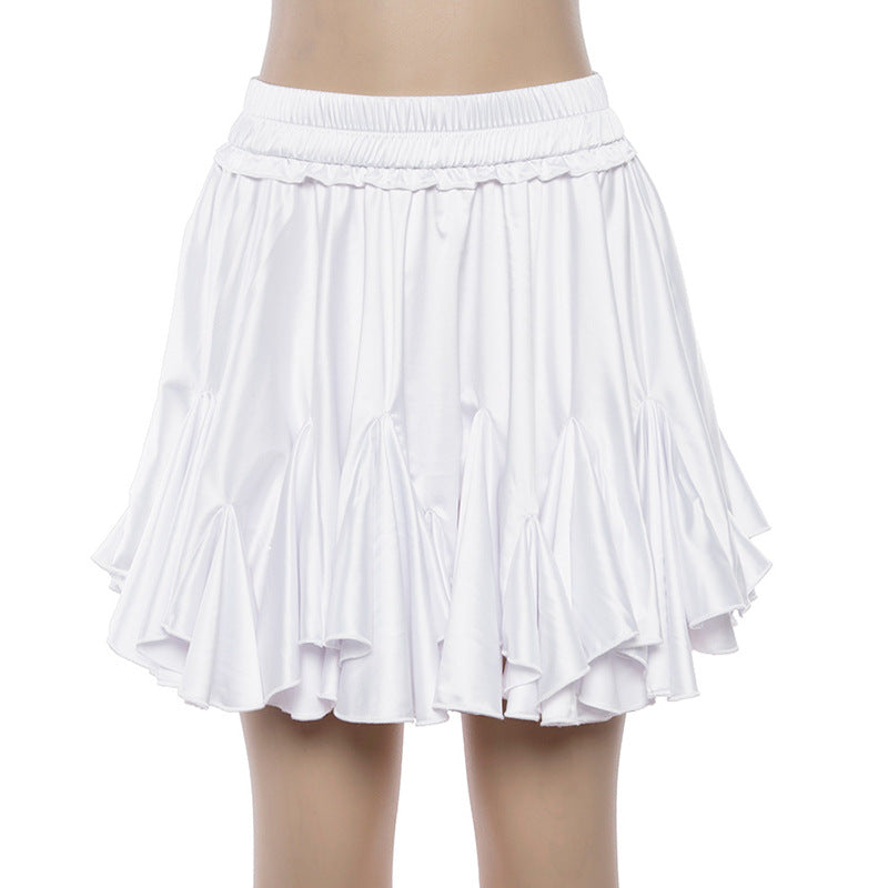 Solid Color Sexy White Skirt