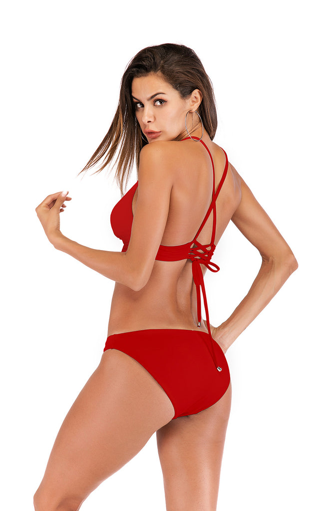Solid Color Sexy Bikini Triangle Swimsuit