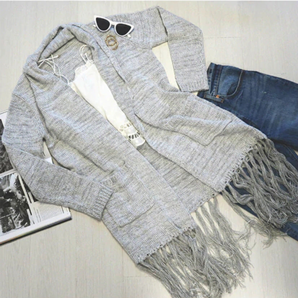 Women's Cardigan Long Sleeve Loose Knit Sweater Jacket