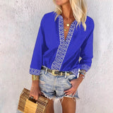 Casual Solid Color Long Sleeve Printed Shirt