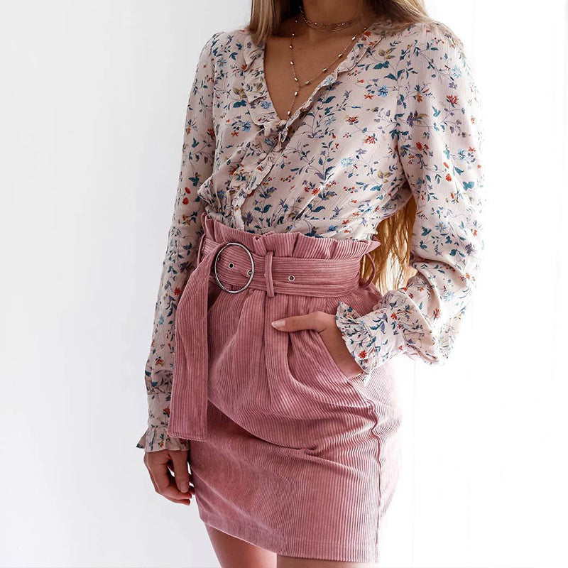 Women'S Pink Casual Skirt