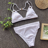 White Sexy Bikini Split Swimsuit