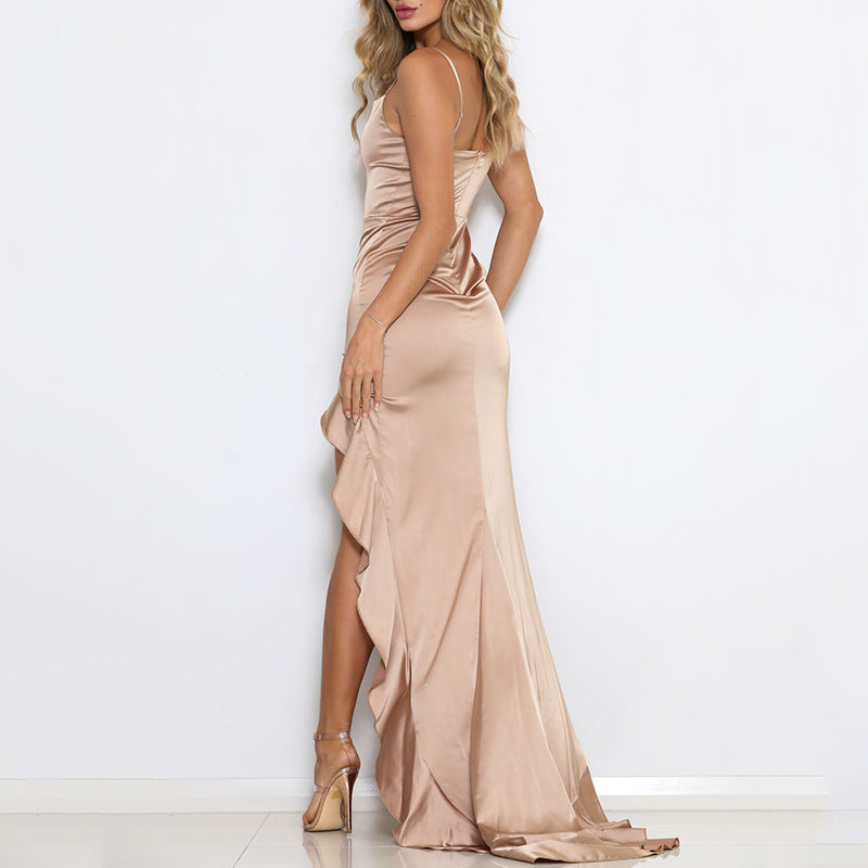 Women Sexy Sling Backless Dress
