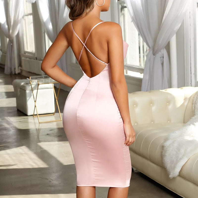 Fashion Sexy Bag Hip Slim Sling Dress