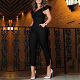 Elegant Fashion Strapless High Waist Slim Jumpsuit