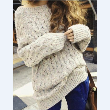 Loose long-sleeved hooded sweater