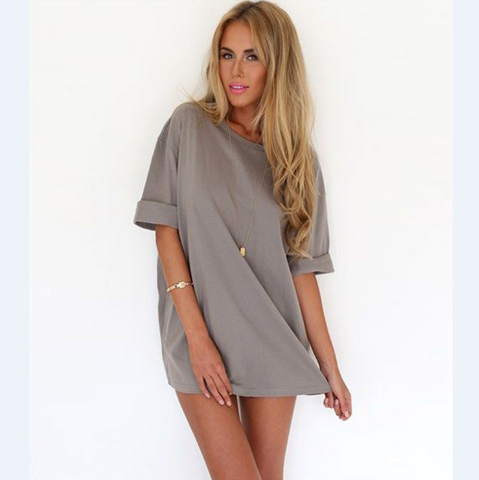 Sexy Round Neck Short-Sleeved Package Hip Dress