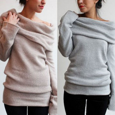 Casual long-sleeved Bat sleeve sweater