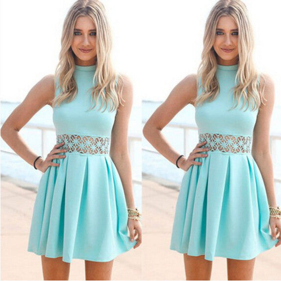 Fashion Hollow Sleeveless Dress