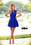 Temperament Round Neck Sleeveless Dress