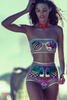 Fashion split Printing two-piece beach bikini