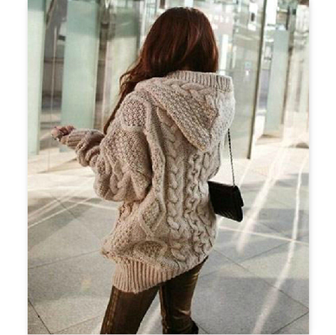 Fashion Striped Cardigan Knit Long Sleeve Jacket