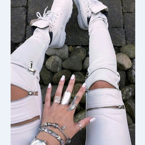 Fashion Zipper Pants