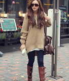Casual Knit Hooded Sweater