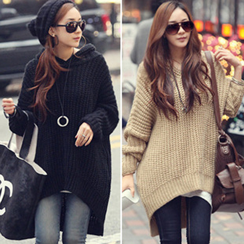 Casual long-sleeved hooded sweater