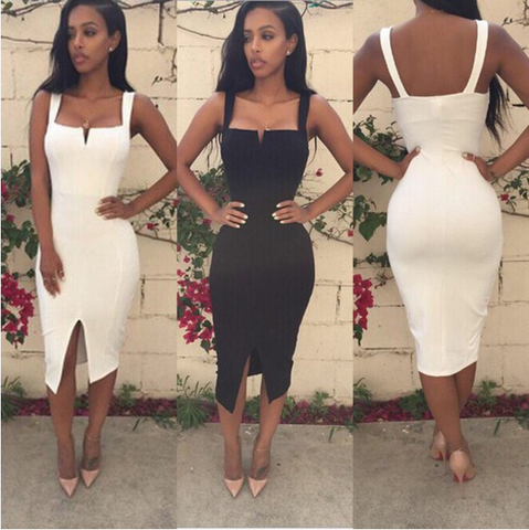 Irregular Backless Sexy Sling White Dress