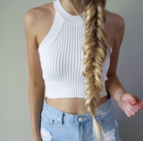 Retro Sling knit vest tops