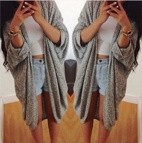 Loose Knit Long Sleeve Cardigan Sweater Coat