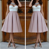 Elegant high waist sleeveless dress