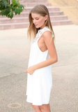 Sexy sleeveless chiffon dress