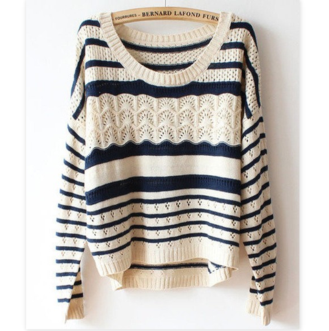 Women'S Loose Long-Sleeved Large Size Sweater