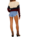 Round Neck Loose Long Sleeve Knit Sweater