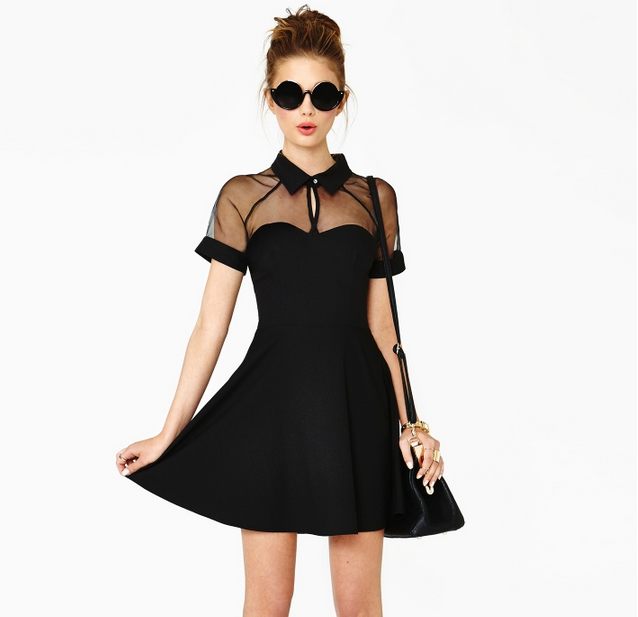 Sexy Short Sleeve Chiffon Dress