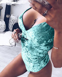 Sexy Spaghetti Strap Swimwear Women's Fashion Jumpsuit