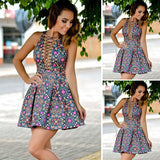 Fashion sexy sleeveless print dress