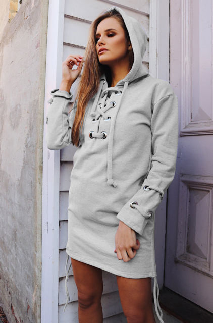 Women'S Fashion Long-Sleeved Hooded Sweater
