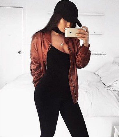 Burgundy Zipped Jacket