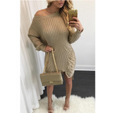 LONG-SLEEVED KNIT DRESS