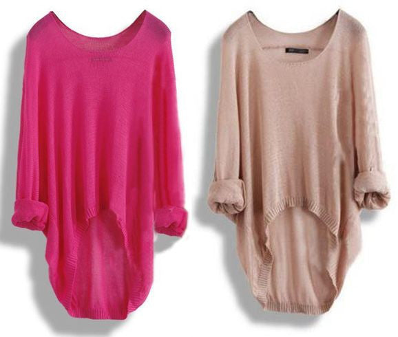 Long-Sleeved Knit Blouse Knit Shirt Hollow