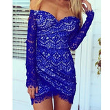 Slim Sexy V-Neck Lace Dress