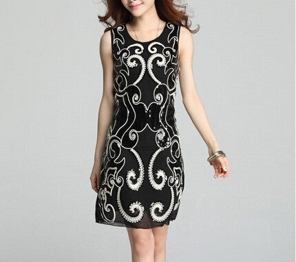 Slim Embroidered Dress