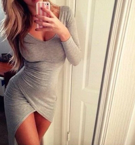 SEXY CUTE LONG-SLEEVED DRESS